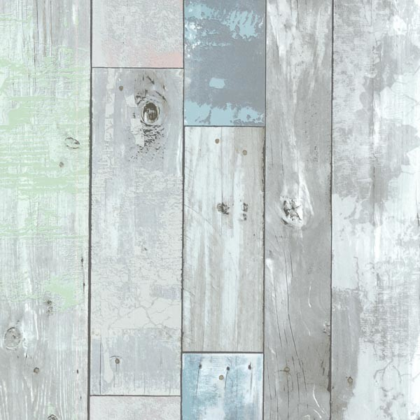 Dean Blue Distressed Wood Panel Wallpaper   Rustic   Wallpaper   by 600x600
