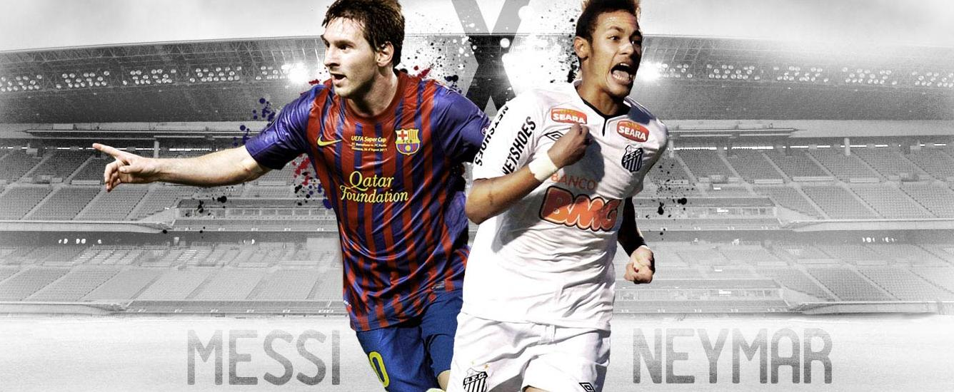 Messi And Neymar Wallpaper Wallpaper BarcelonaWallpaper Barcelona 1336x550