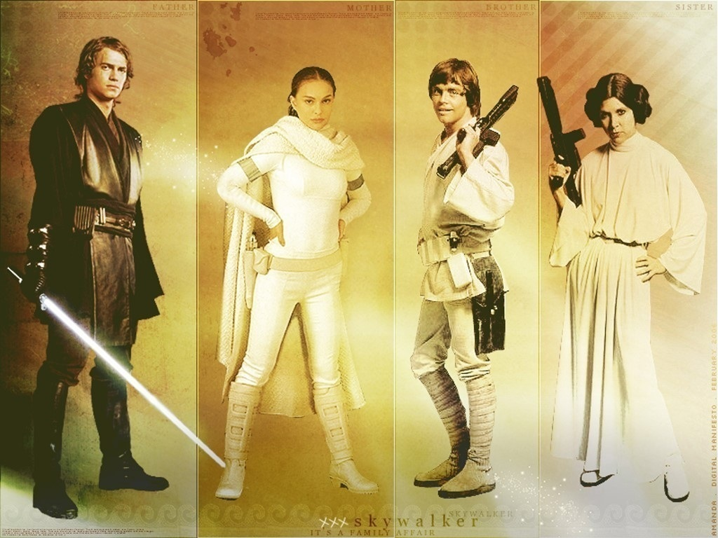 The Skywalker Family   The Skywalker Family Wallpaper 19459727 1024x768