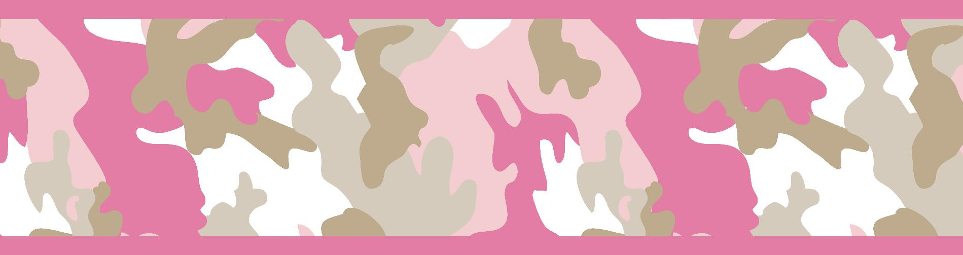 camo pink collection wall paper border camo pink wall paper border 1899x503