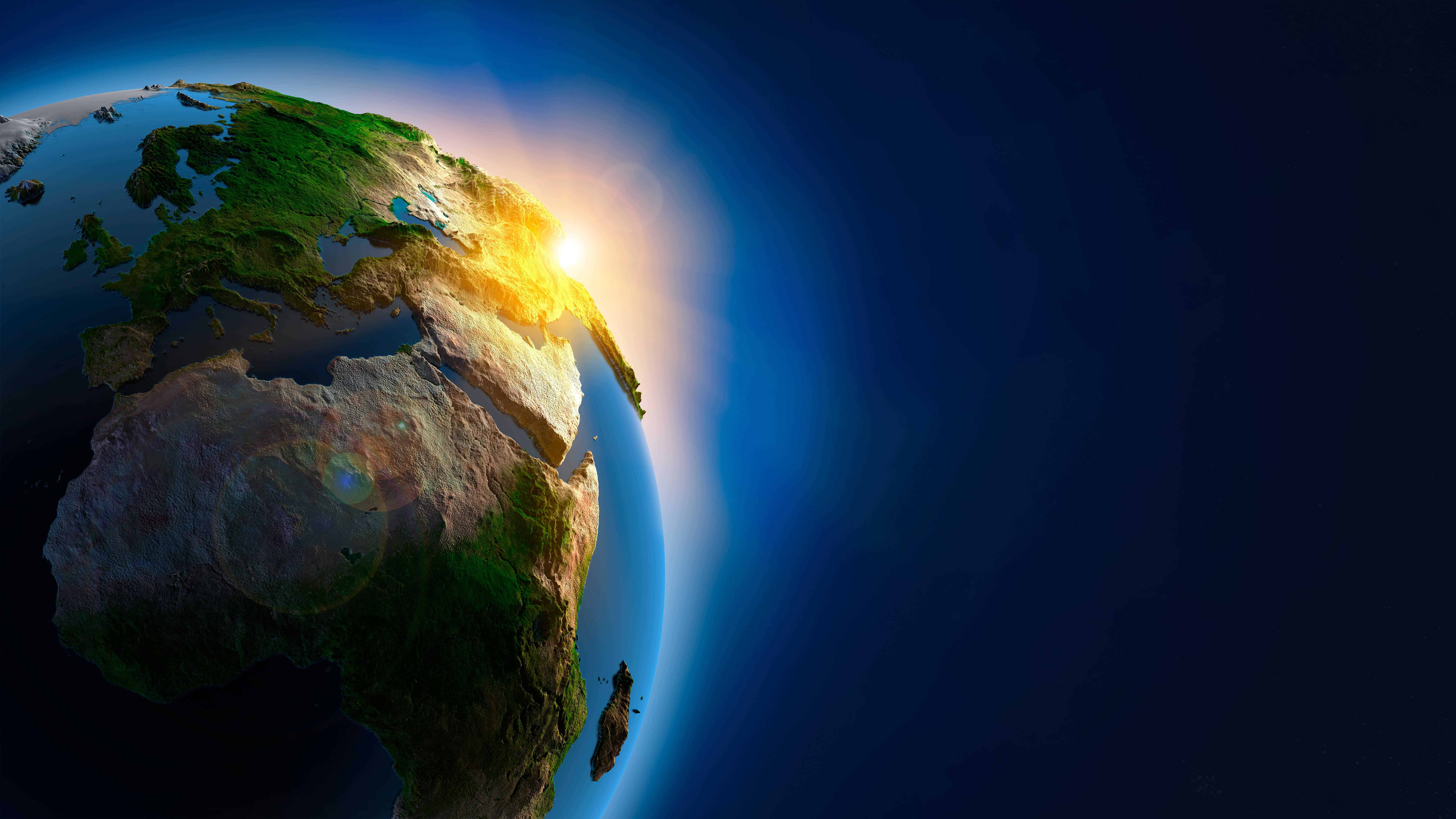 Earth 3D From Space UHD 8K Wallpaper Pixelz 7680x4320