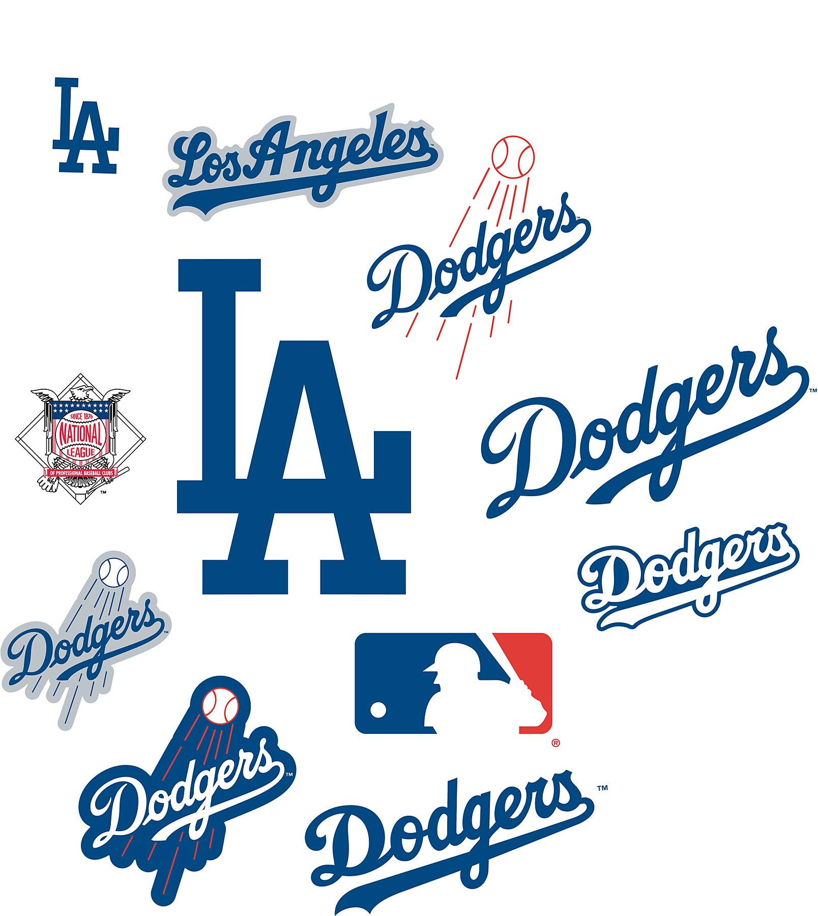 Wallcovering Los Angeles Dodgers Logo Fathead Jr MLB Wallpaper 1608x1800