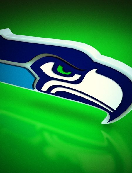 3D Seahawk on Green Wallpaper for Amazon Kindle Fire HD 89 450x590