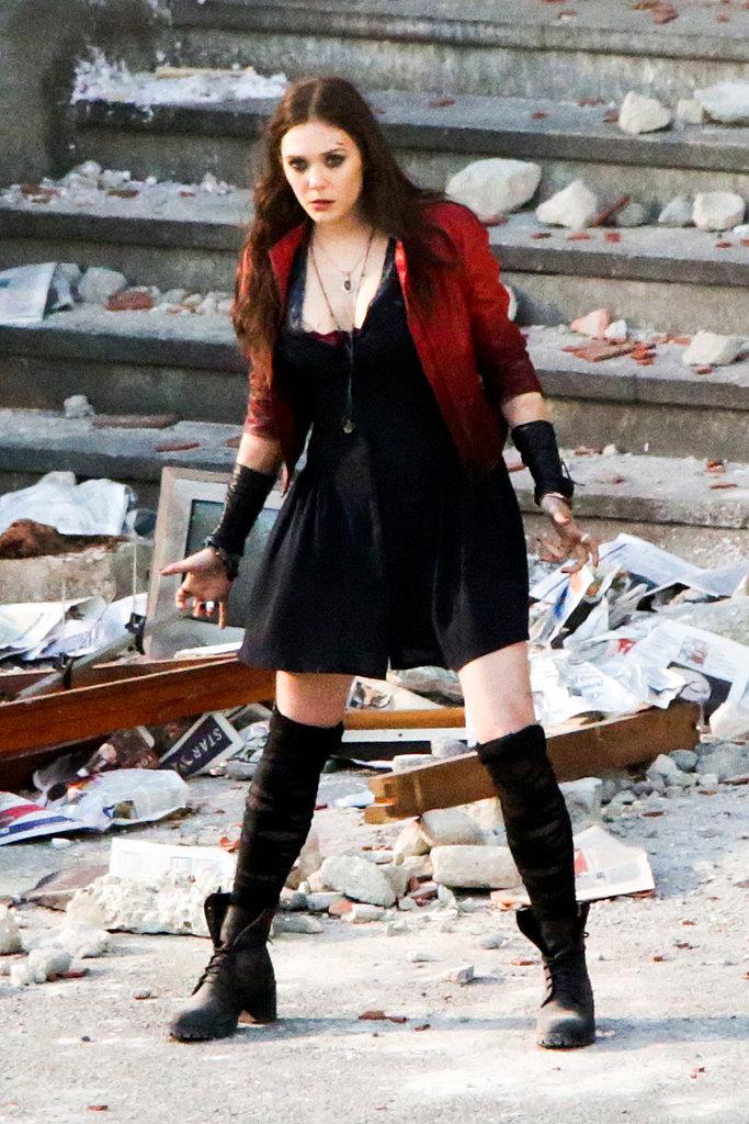 Elizabeth olsen scarlet witch wallpaper wallpapersafari - Scarlet witch boobs ...