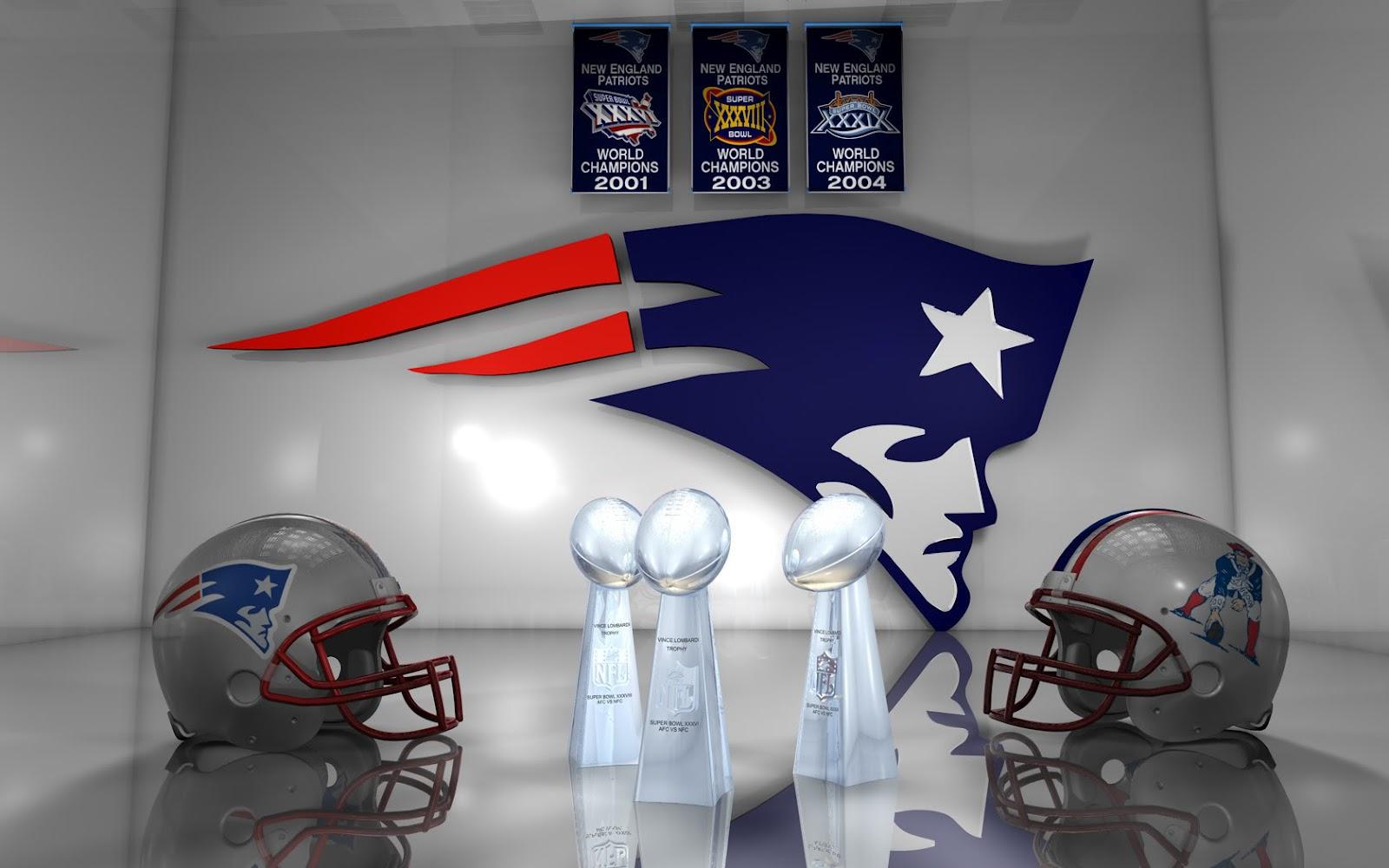 New England Patriots Logo Awards Helmets HD Desktop Wallpaper 1600x1000