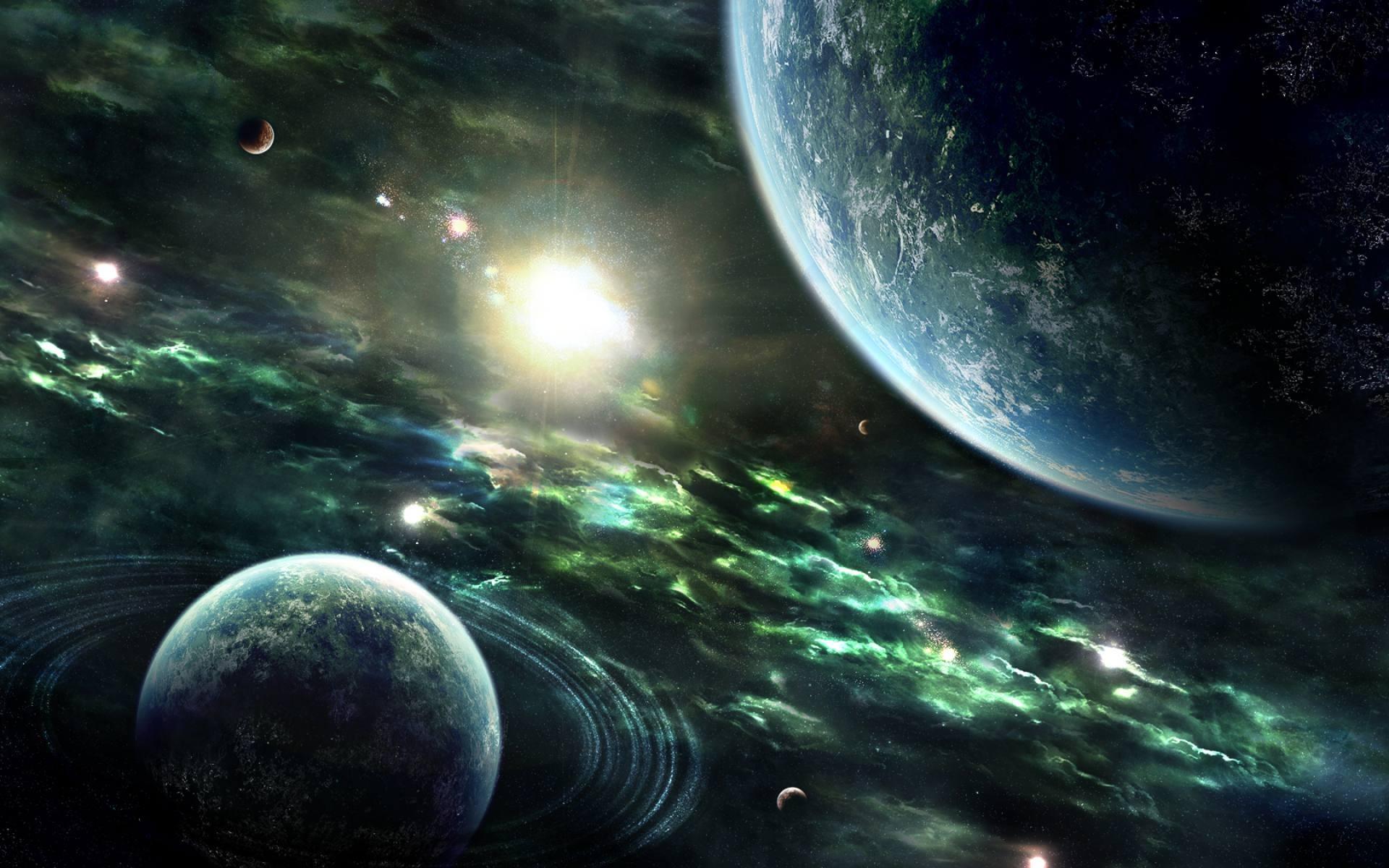 Sci Fi Planets desktop wallpaper 1920x1200