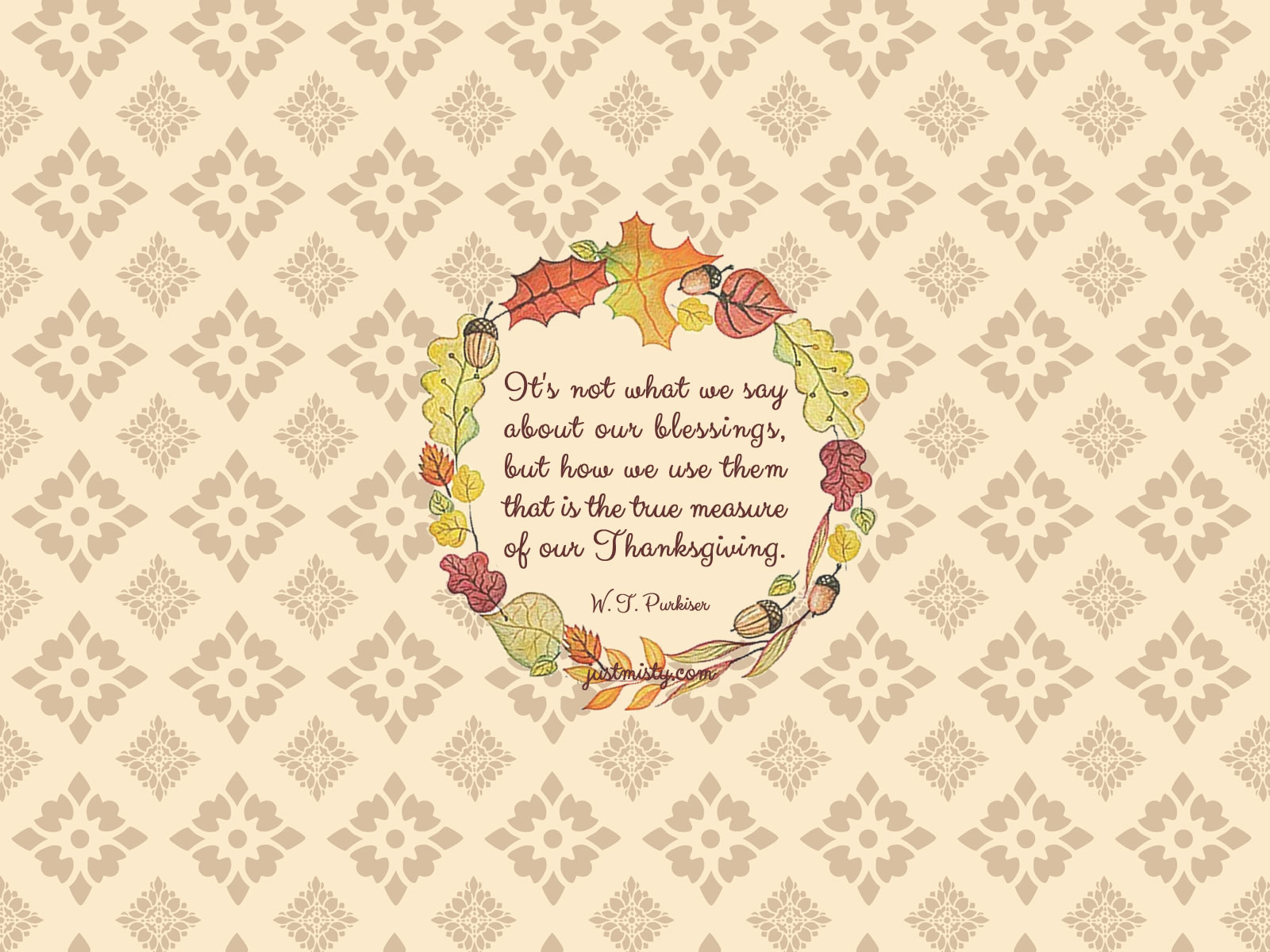 Fall and Thanksgiving Printables Bonus Desktop Wallpaper 1600x1200