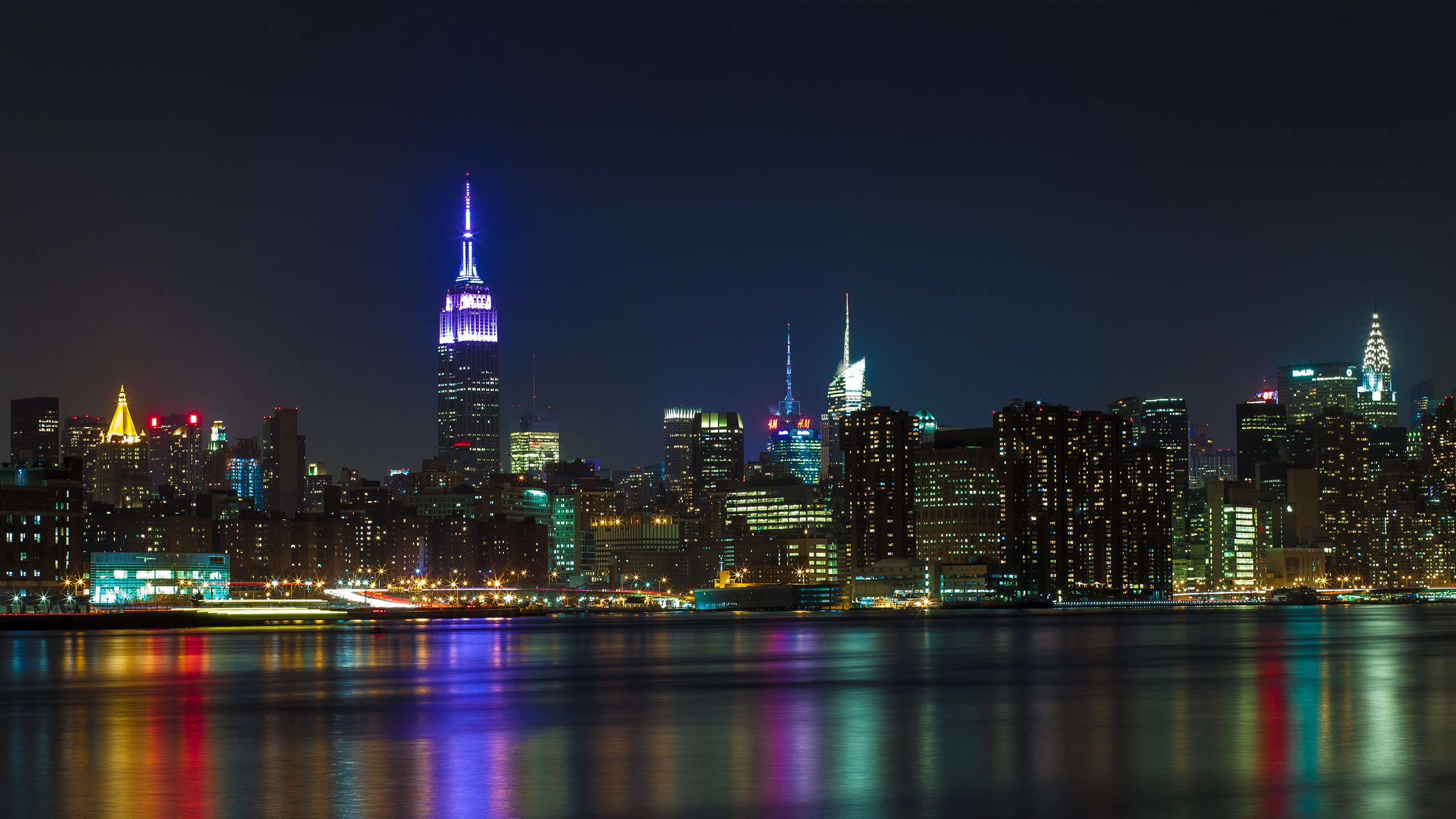 New York at Night Wallpaper images 2560x1440