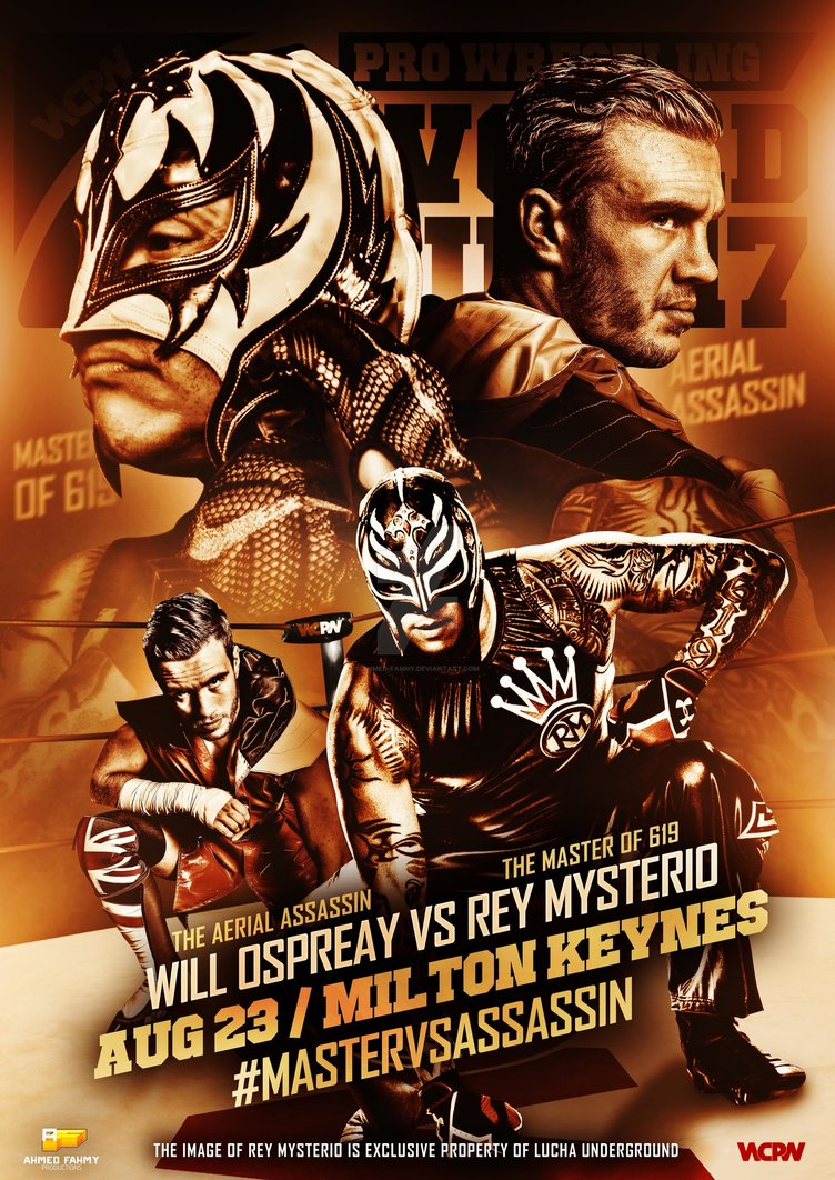 WCPW  Rey Mysterio vs Will Ospreay Official poster by Ahmed Fahmy 752x1062
