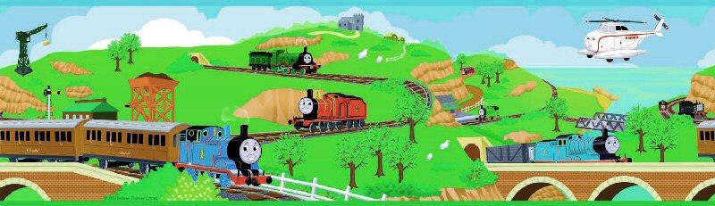 thomas train wallpaper border image search results 800x231