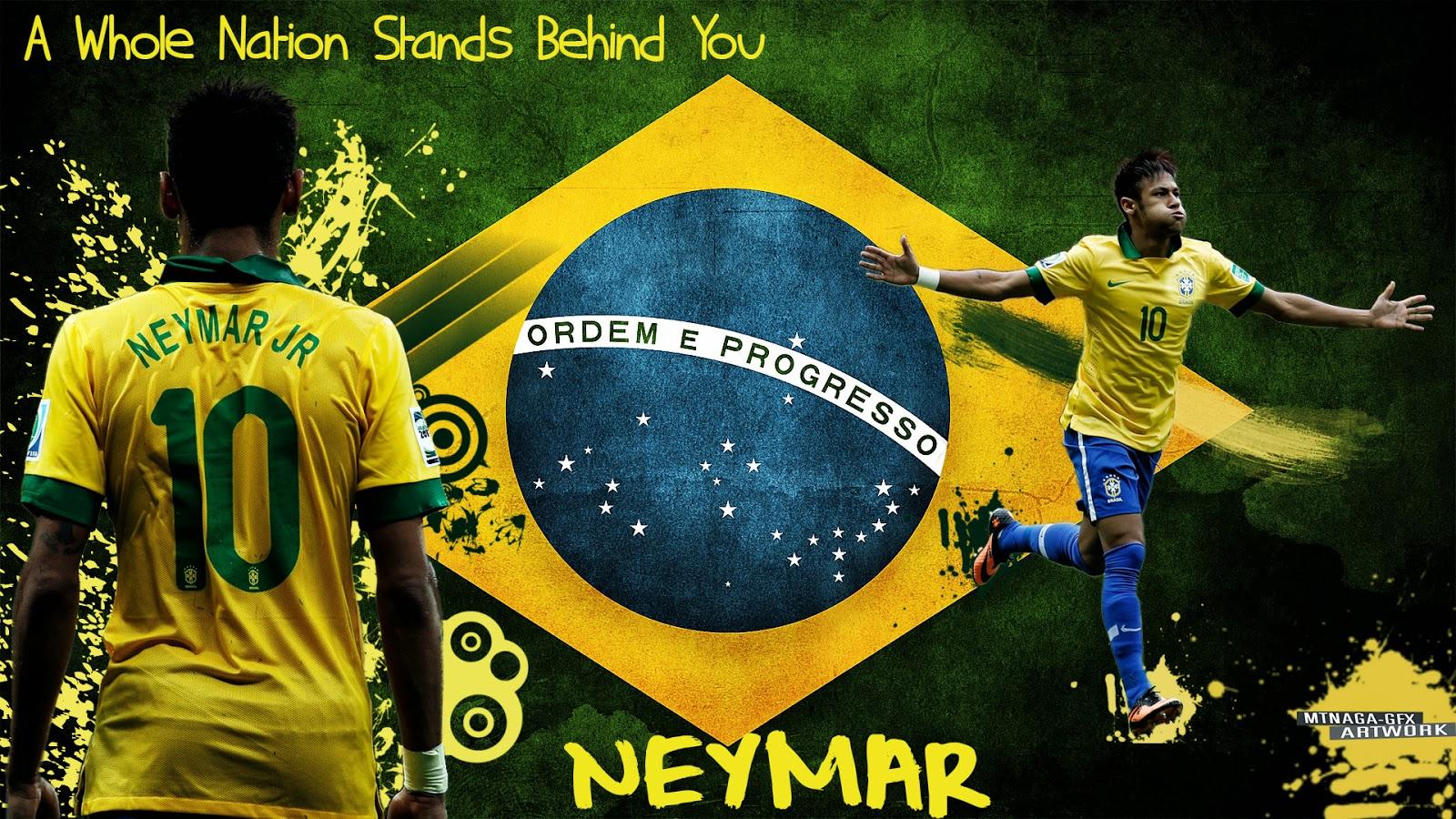 brazil football team 2014 neymar