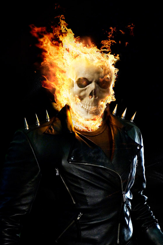 iPhone background Ghost Rider from category other wallpapers for 640x960