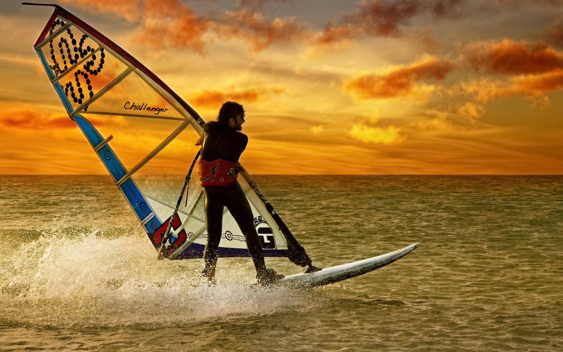 free 1920X1200 Surfing At Sunset 1920x1200 wallpaper screensaver 1920x1200
