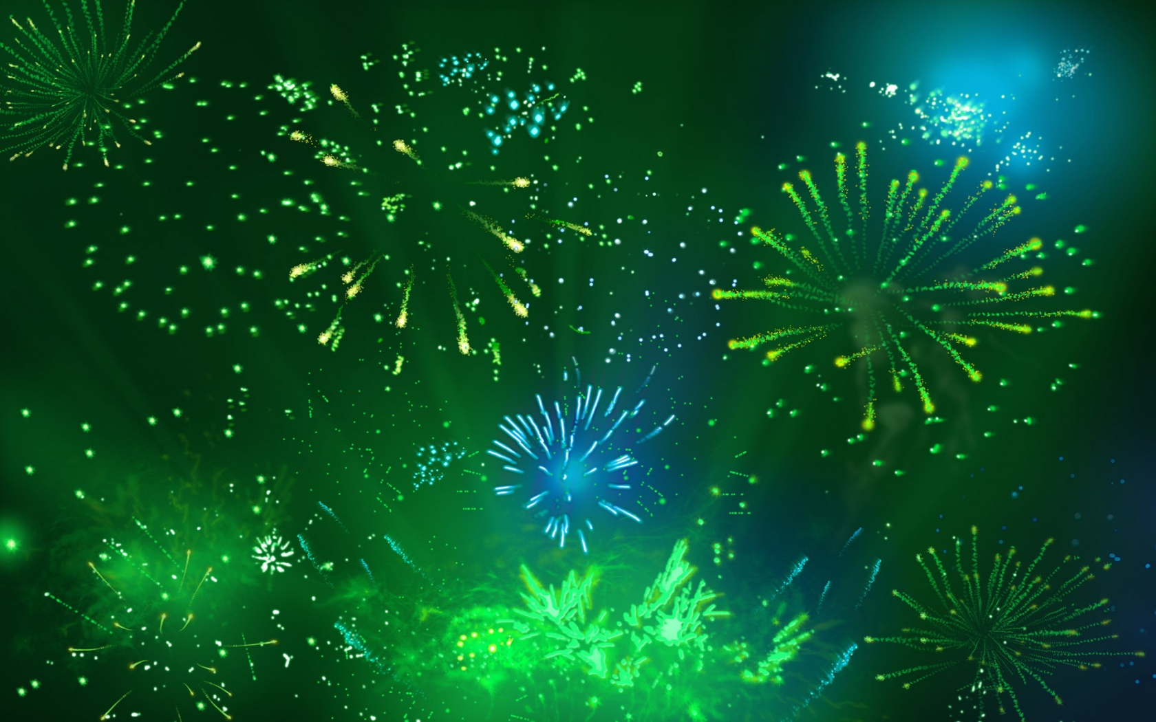 Wallpapers Blue Green Fireworks Myspace Backgrounds Blue Green 1680x1050