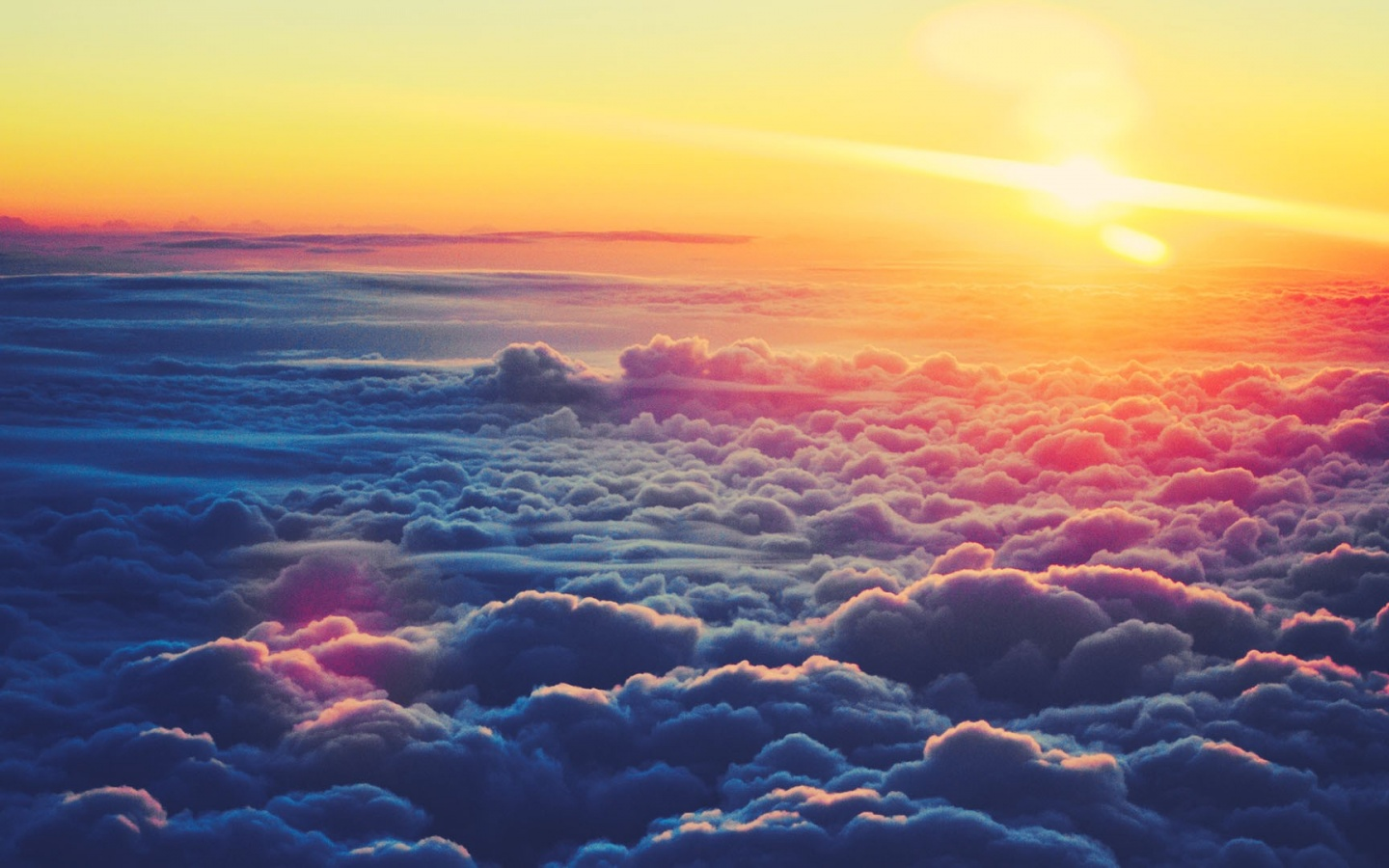 1440x900 Sunrise Above the Clouds desktop PC and Mac wallpaper 1440x900