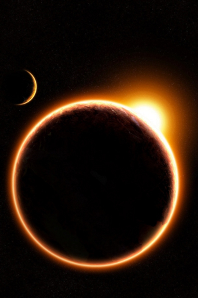 Eclipse iPod Touch Wallpaper Background and Theme 640x960