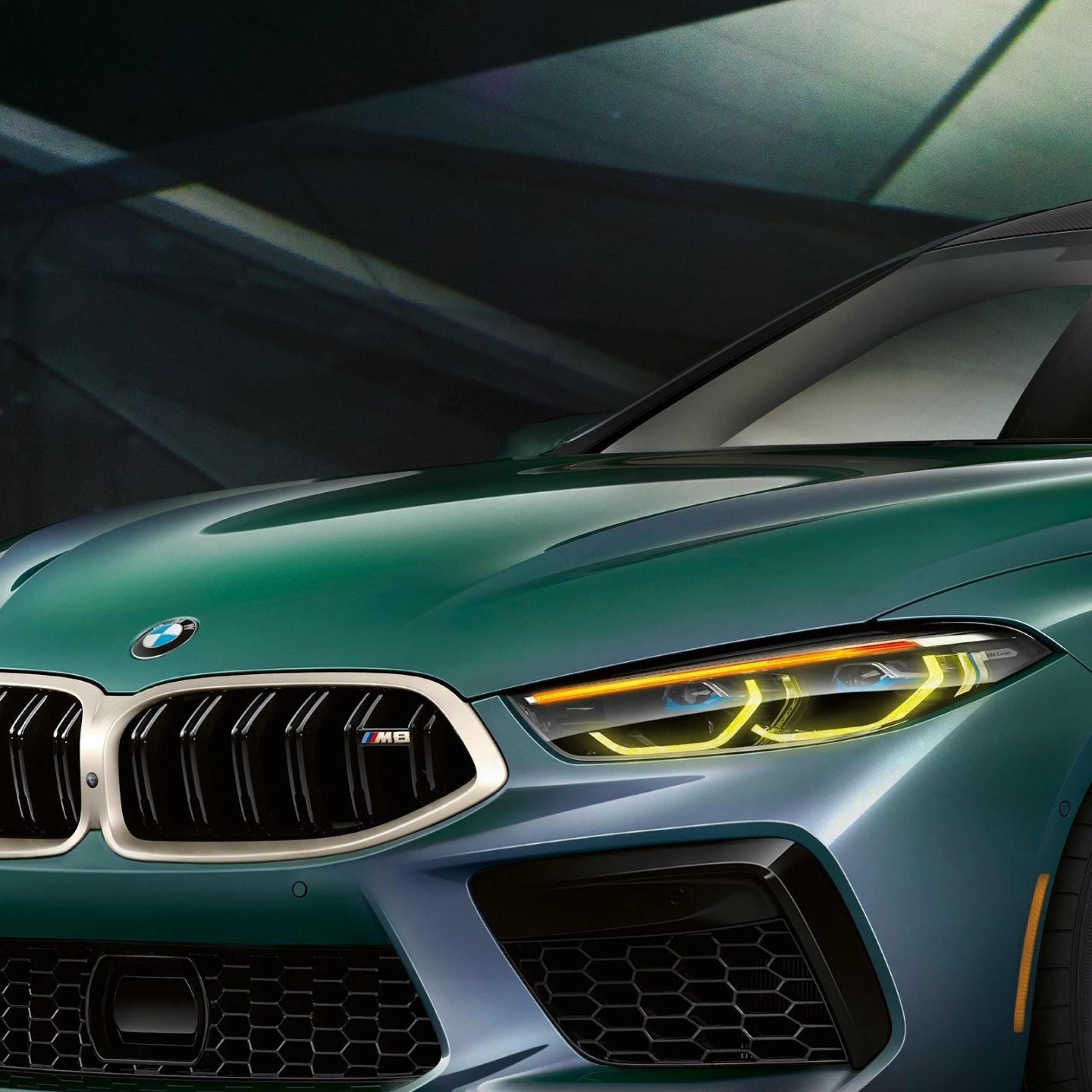 1440x2880 2020 car BMW M8 Gran Coupe First Edition green car 2560x2560
