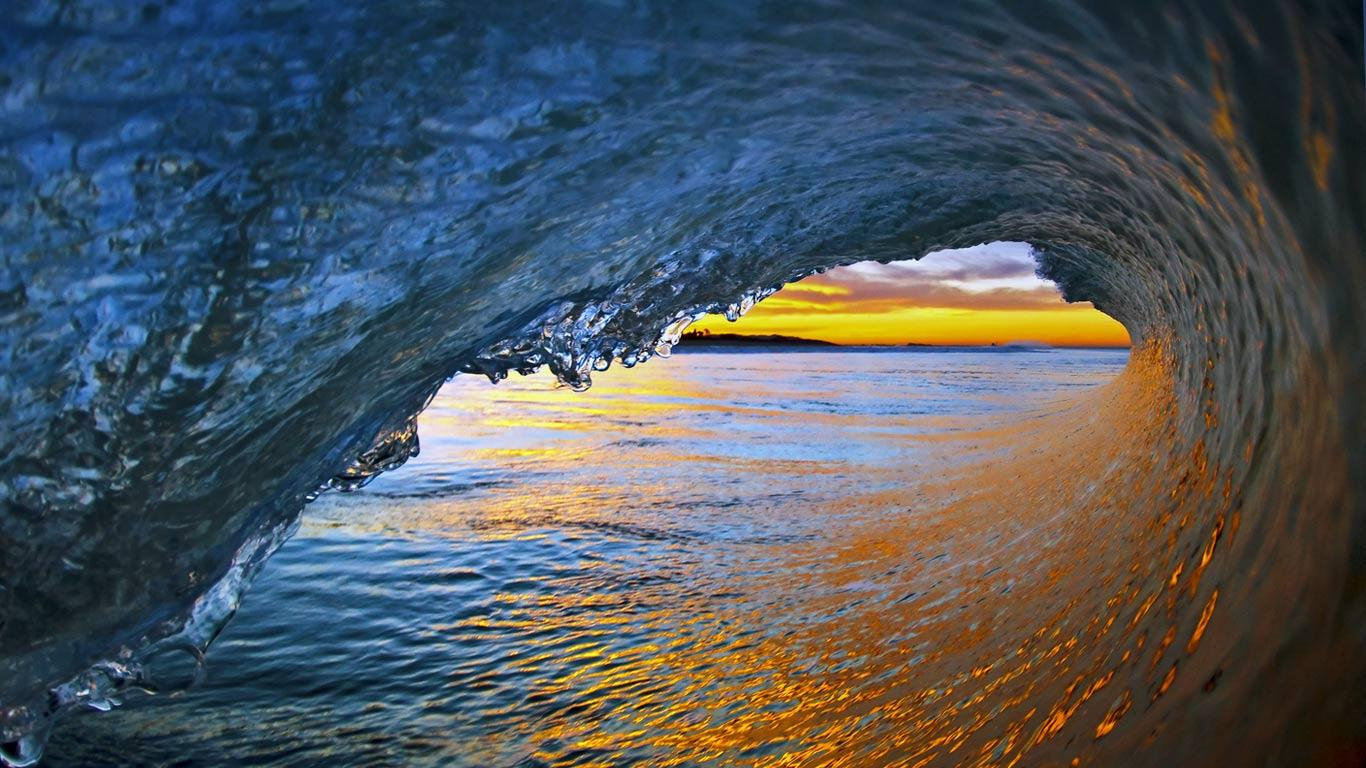 wallpaper sunset shot from in the wave tube background for end of 1366x768