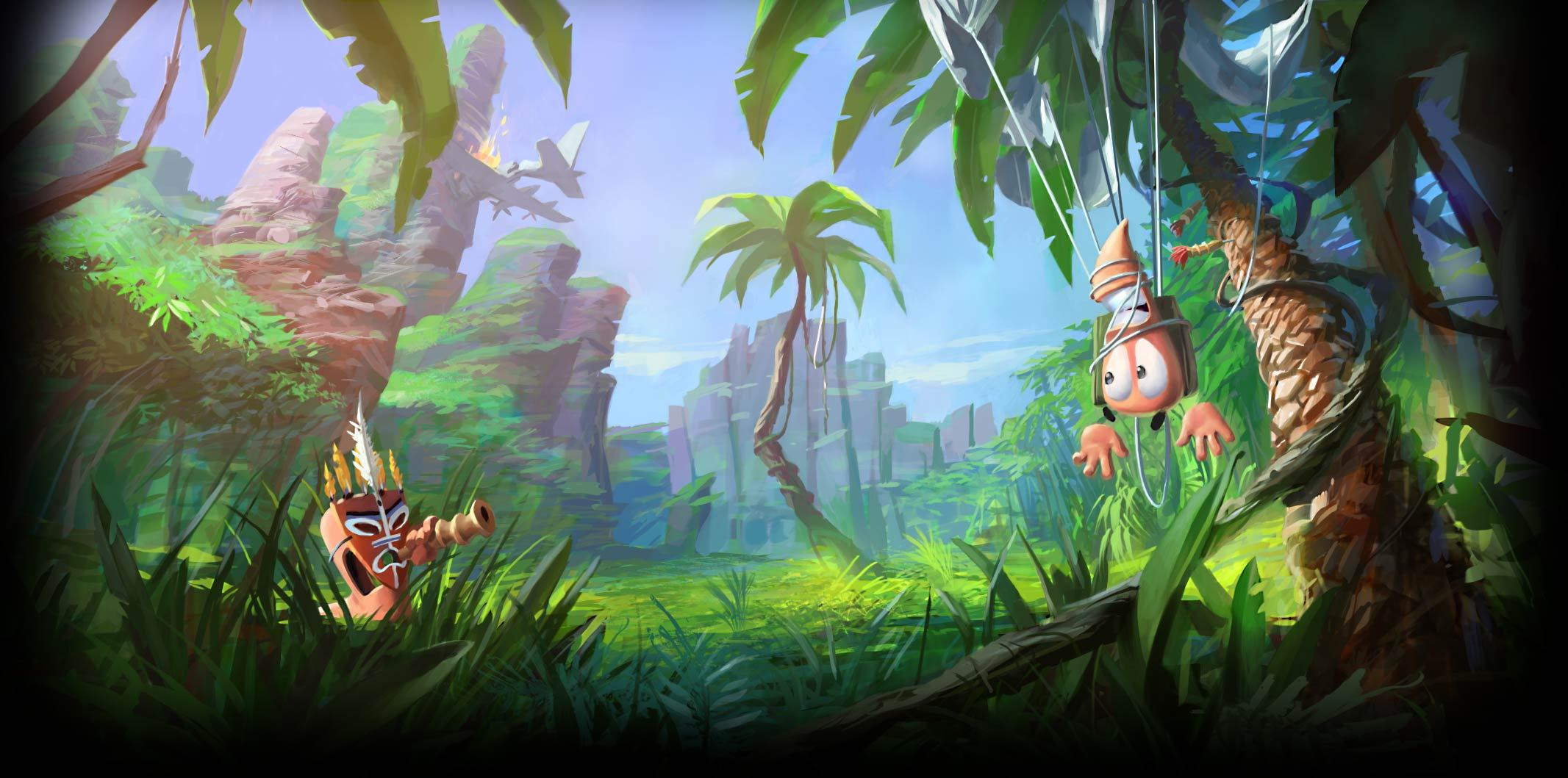 Worms Video Game Wallpaper and Background Image 2133x1059 ID 2133x1059