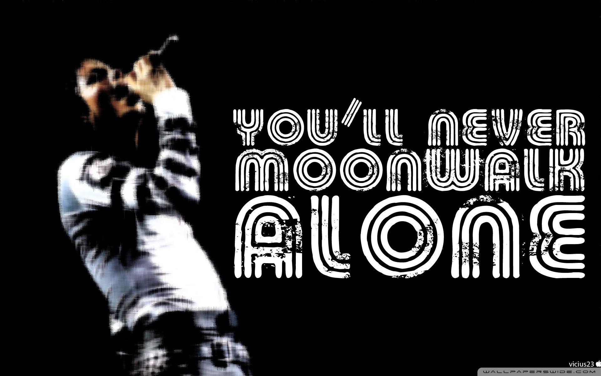 You Will Never Moonwalk Alone 4K HD Desktop Wallpaper for 4K 1920x1200