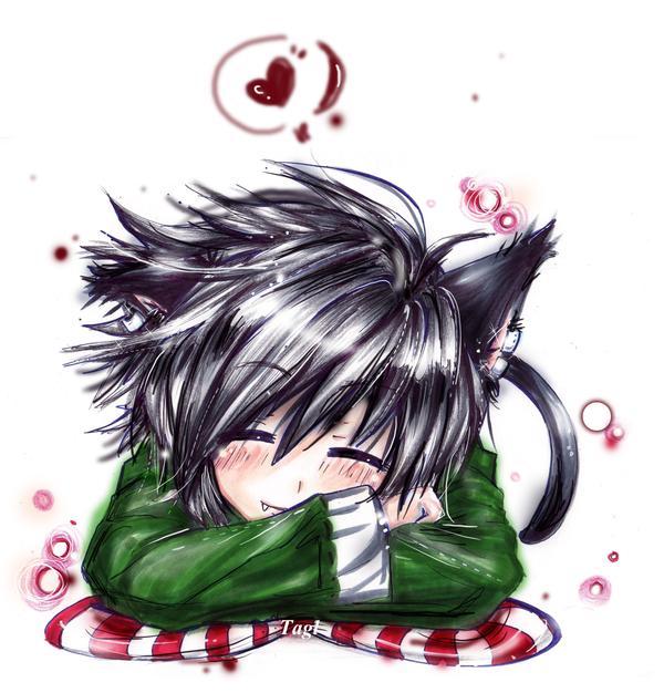 Cute Neko Boy of mine by RunaNeko 600x626
