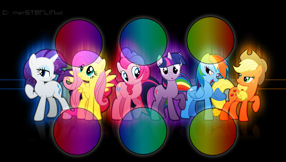 bunch of cute ponies in this my little pony wallpaper for your PS Vita 960x544