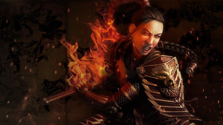 Female Samurai Wallpaper [1080p] by FoehnGFX 900x506