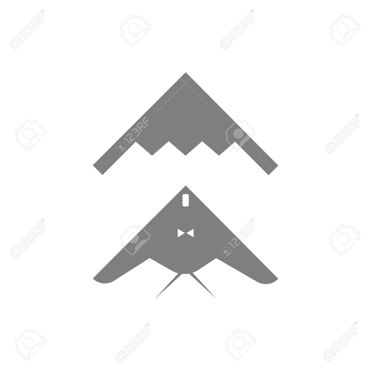Stealth Bomber Icon On White Background Illustration Royalty 1300x1300