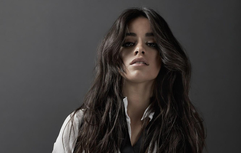 Wallpaper background portrait brunette singer Camila Hair 1332x850