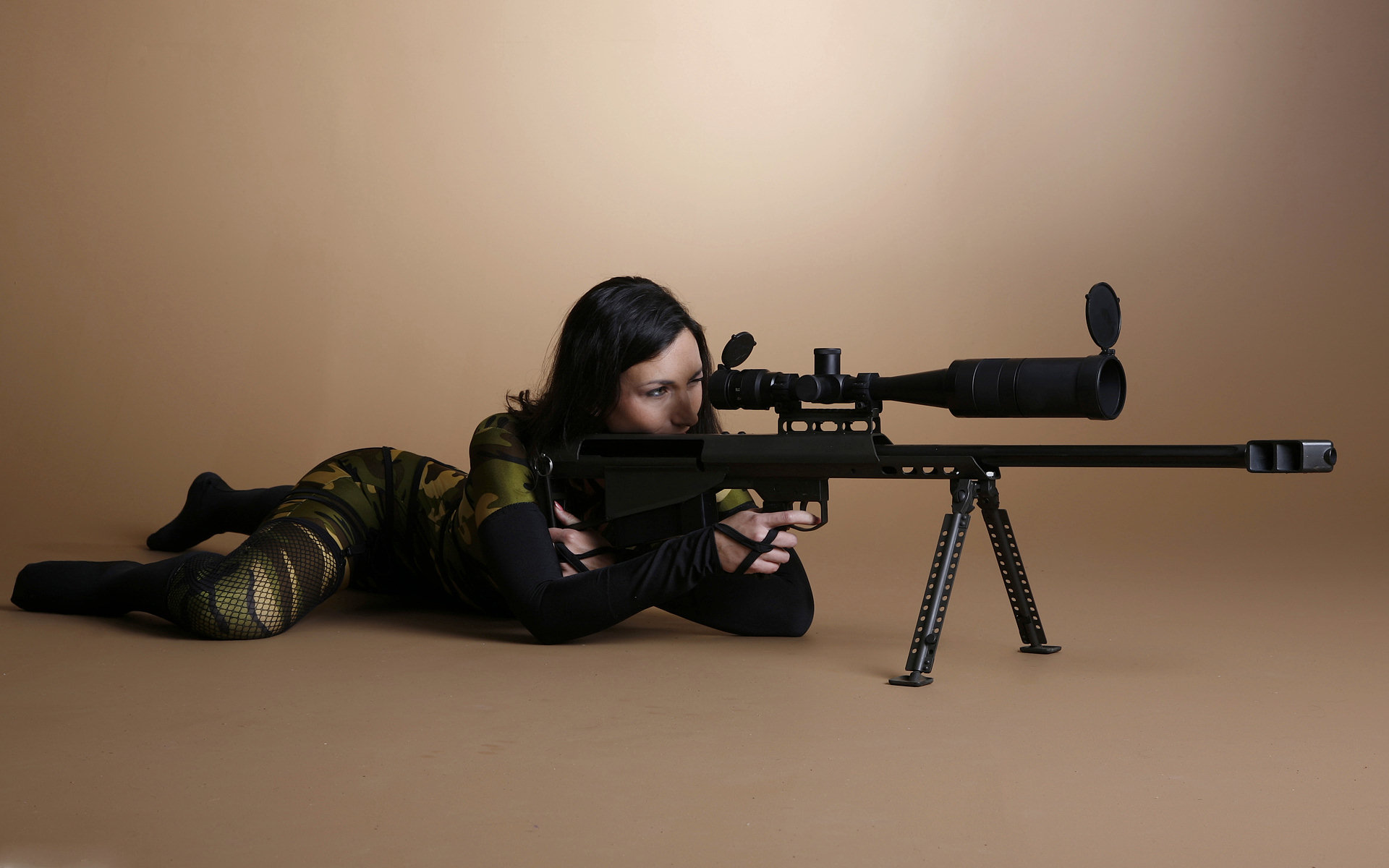 Babe Sniper Full HD Wallpaper and Background Image 1920x1200