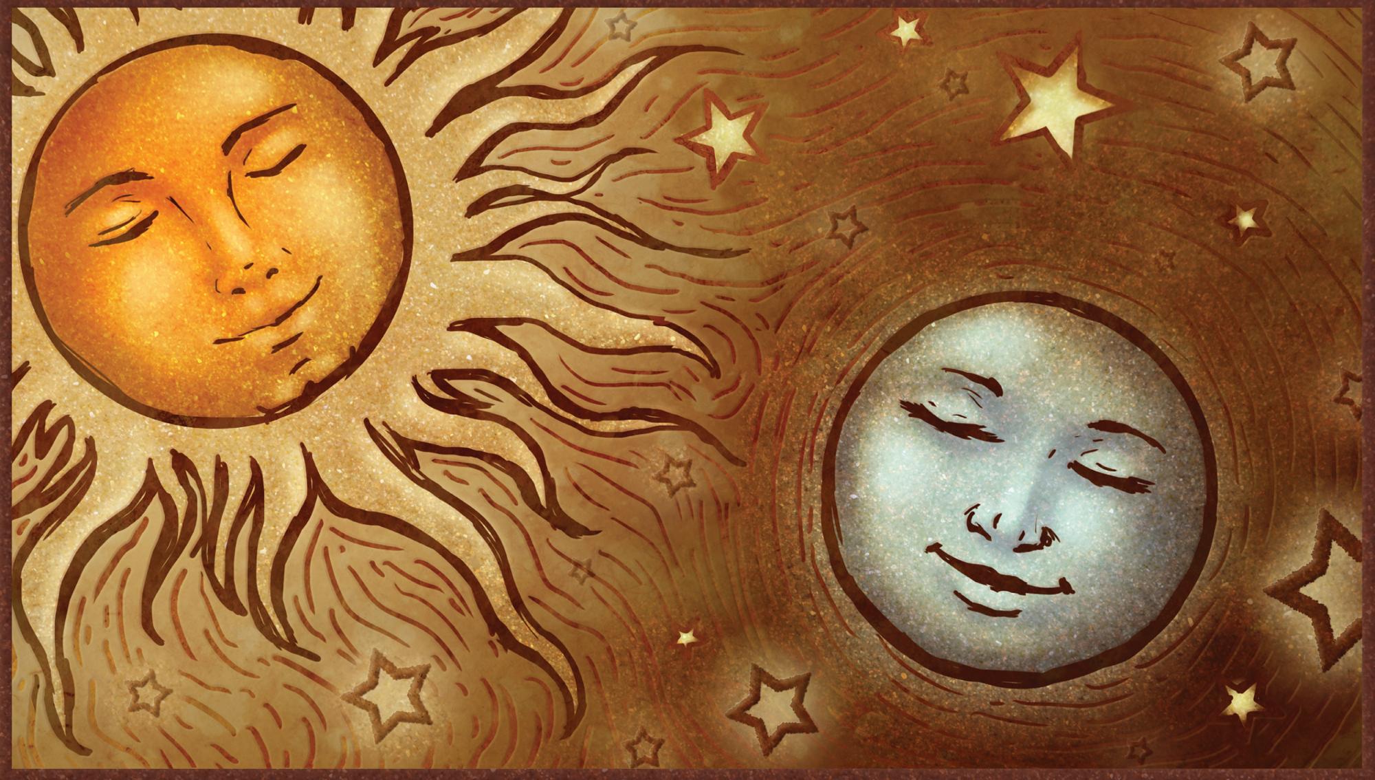 The Sun And The Moon Celestial Sun a...