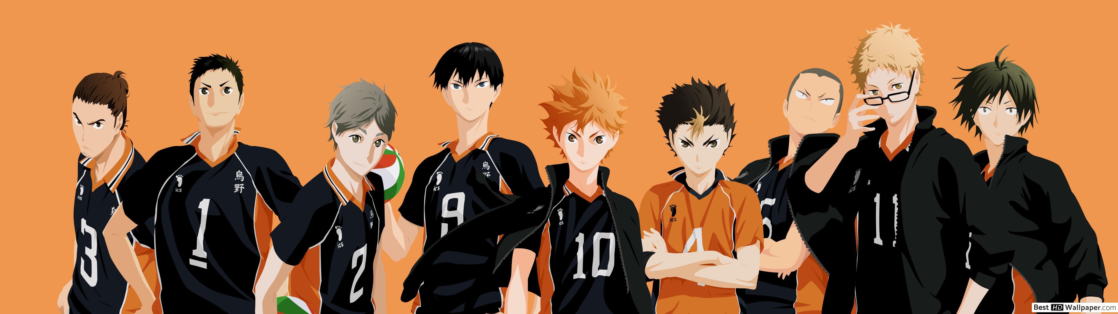 Wallpaper Haikyuu Karasuno   Anime Wallpaper HD 3840x1080