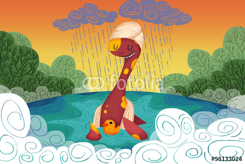 Monster Provides the Yellow Duck a Safe Haven When It Rains Realistic 500x334