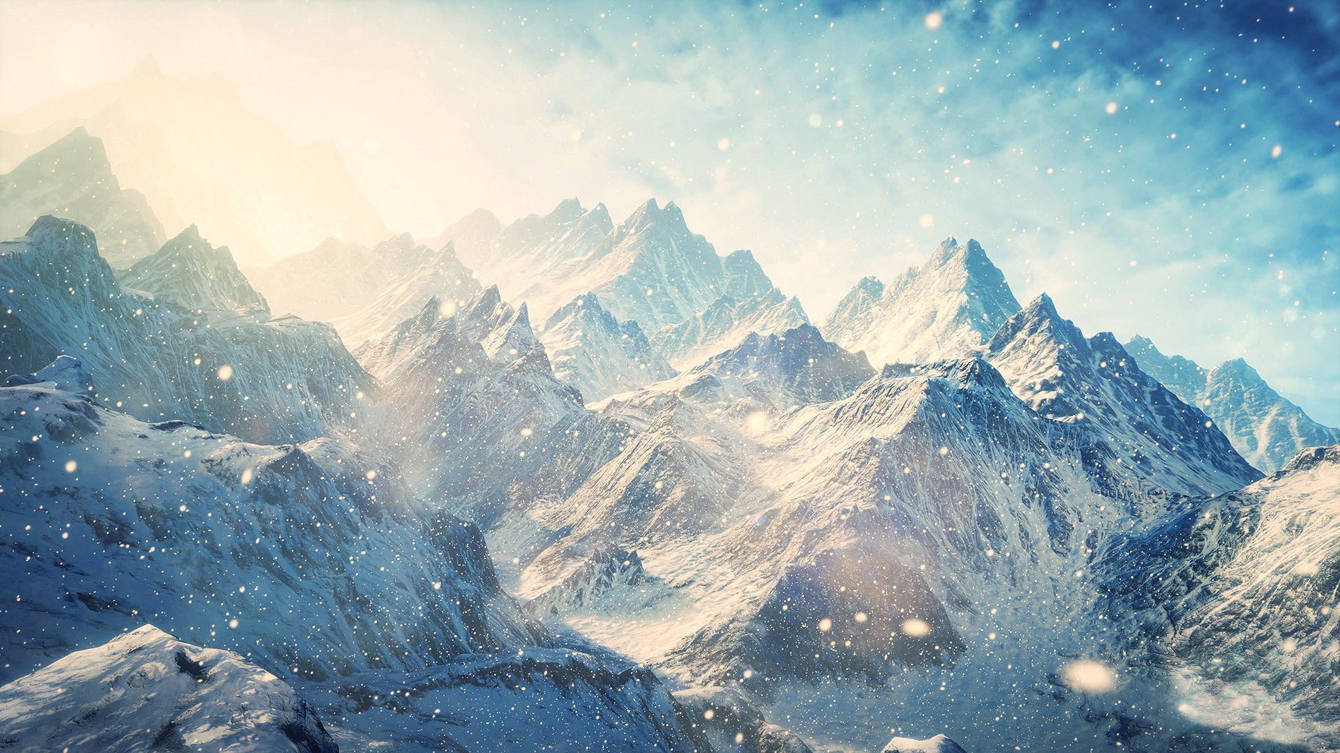 wallpaper of ice mountain