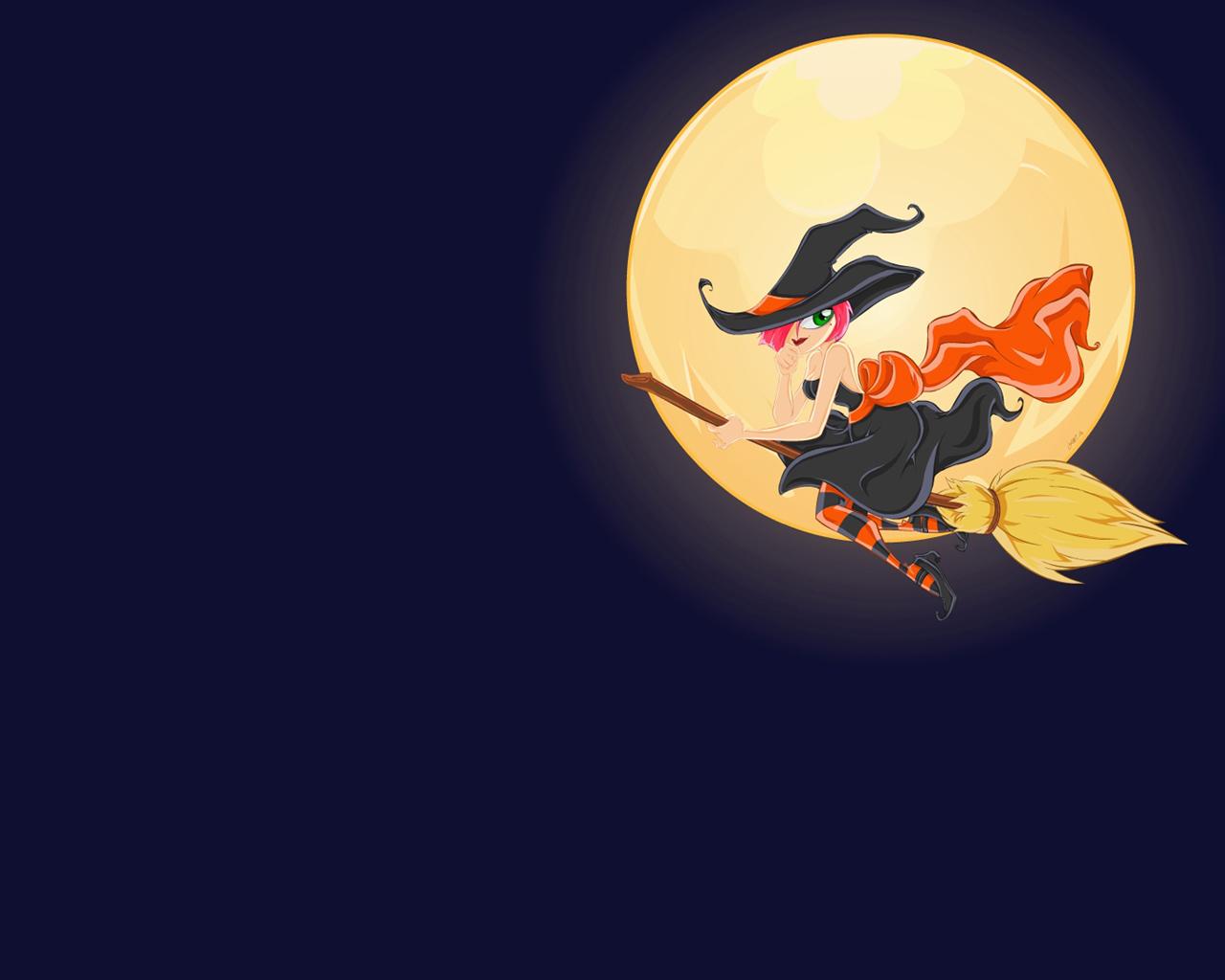 Scary Halloween 2012 Beautiful Witch HD Wallpaper 1280x1024