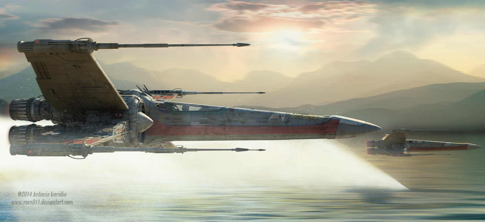 49 Force Awakens X Wing Wallpaper On Wallpapersafari