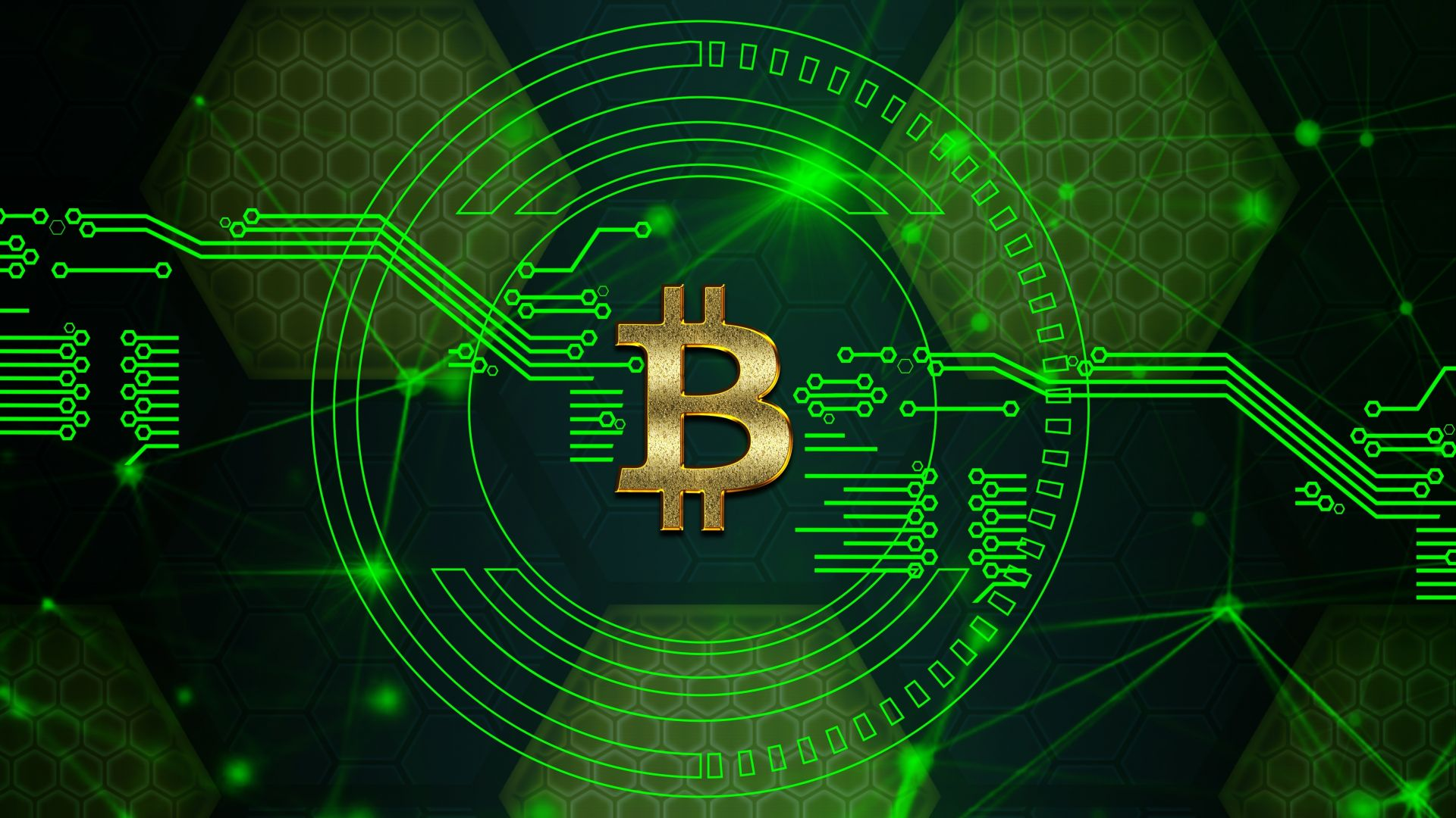 Desktop wallpaper bitcoin digital circuit crypt currency art 1920x1080
