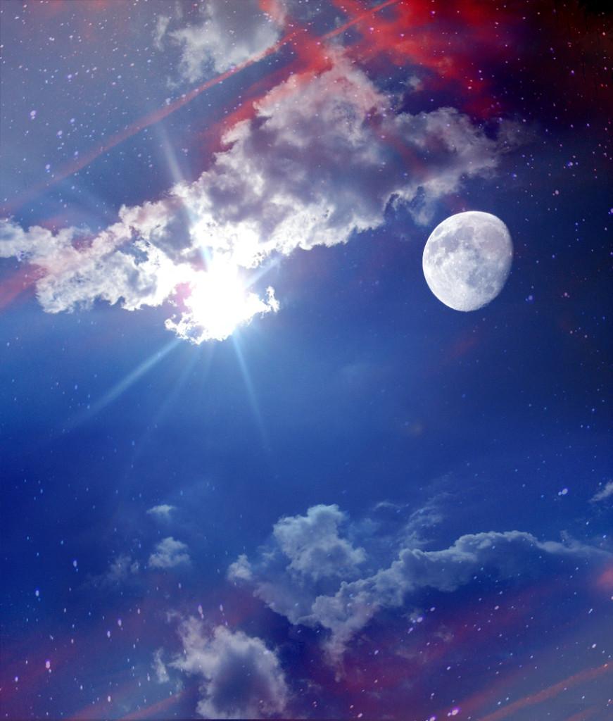 star background sun moon - photo #5