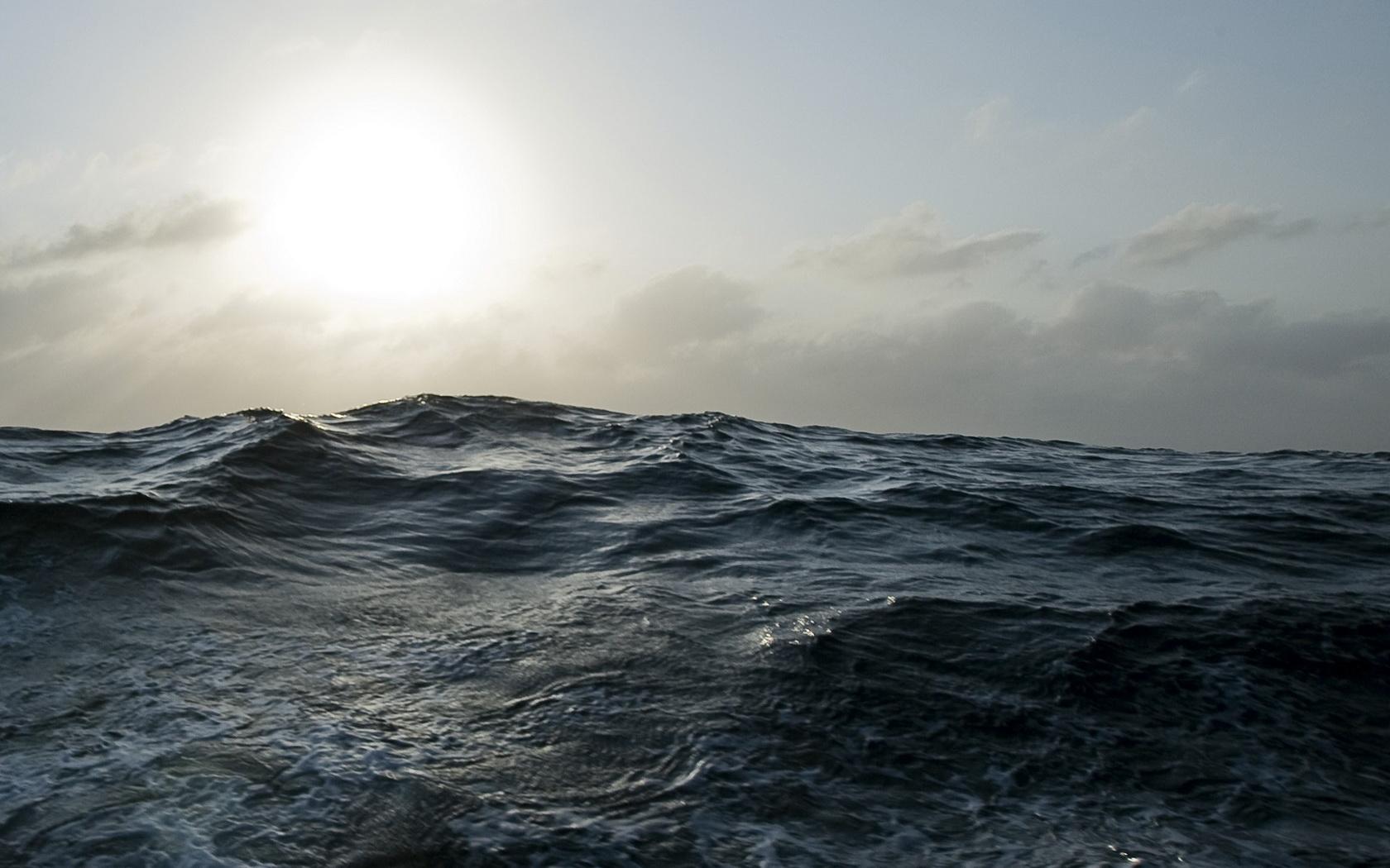 Ocean Waves At Night Ocean waves wallpaper 1680x1050