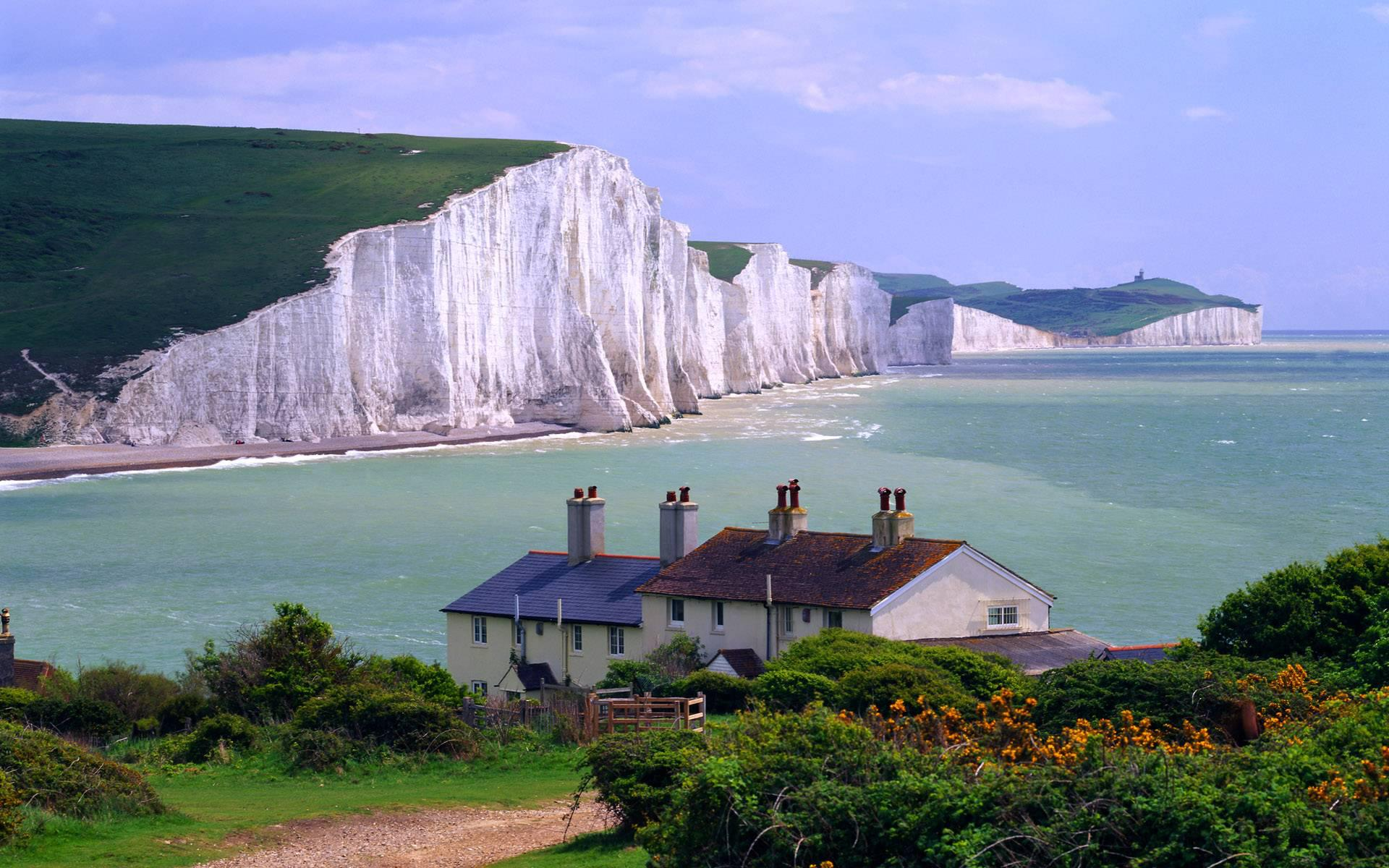 Seven Sister Cliffs Sussex England El mundo Pinterest 1920x1200