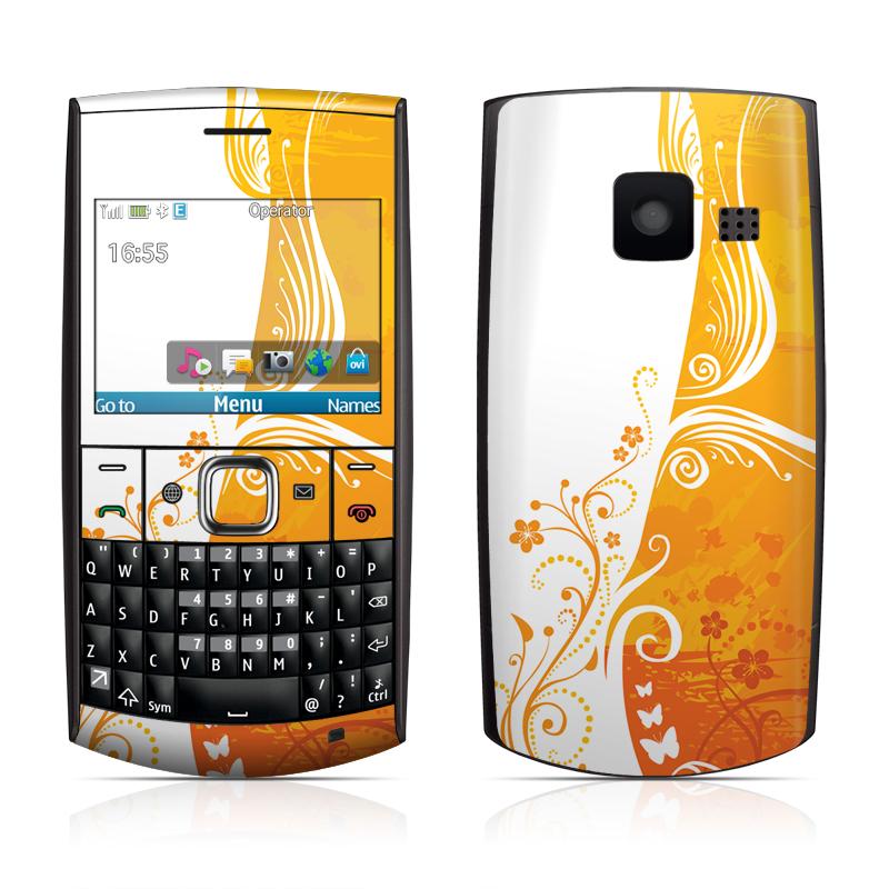 Nokia X2 01 Skin   Orange Crush DecalGirl 800x800