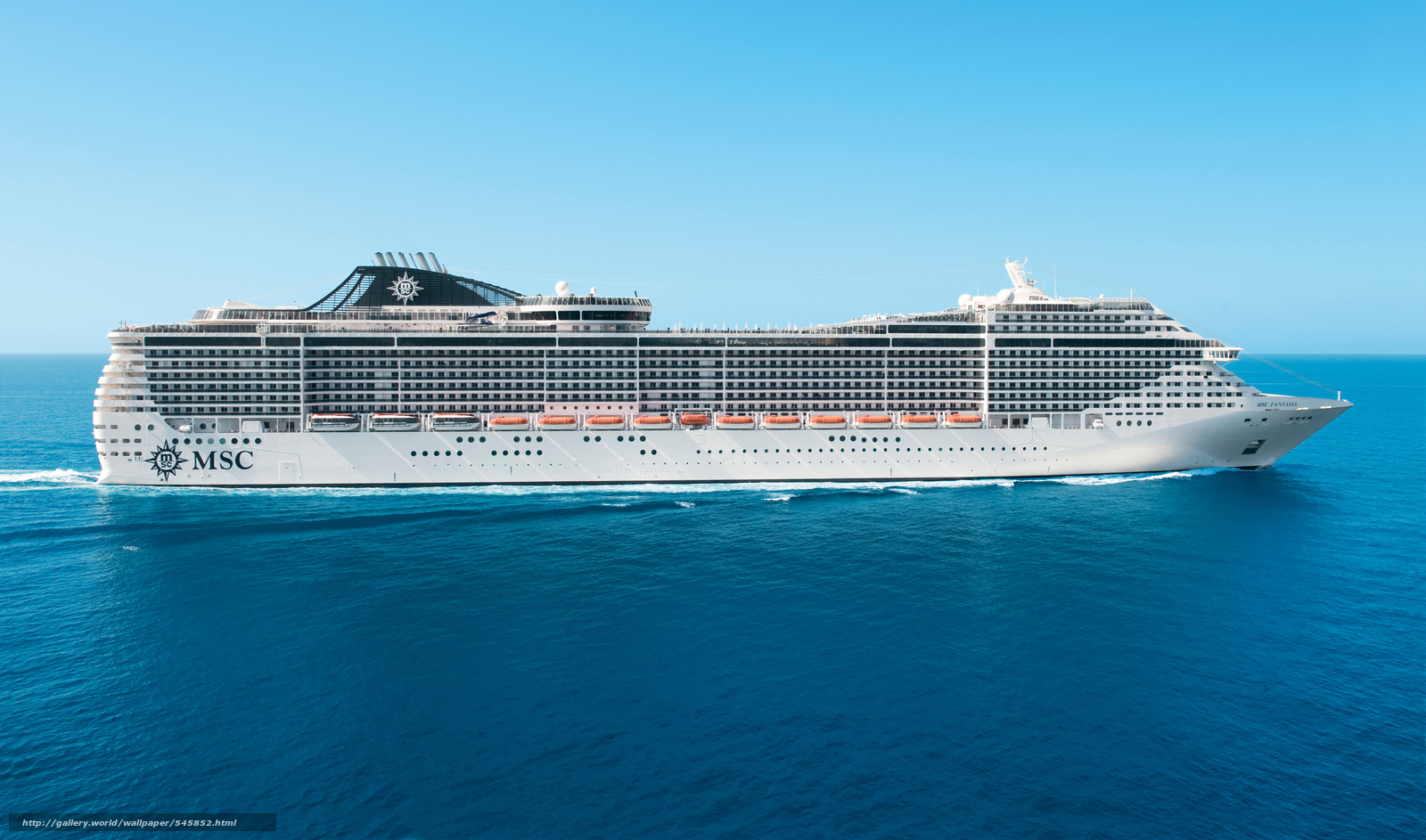 Download wallpaper MSC Fantasia Cruise Ship desktop wallpaper 1600x943