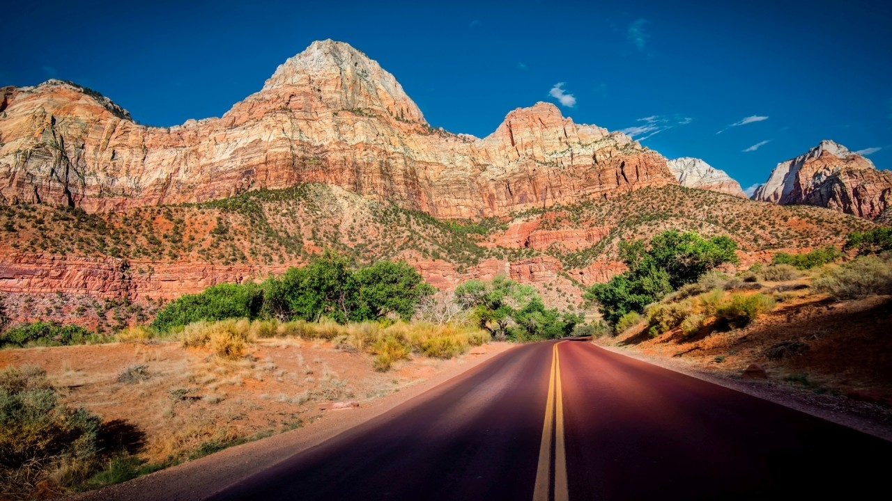 Zion National Park Sunny Day wallpapers Zion National Park Sunny Day 1280x720