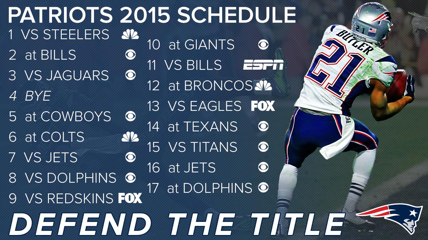 Patriots 2015 Schedule Background Patriots 1366x768