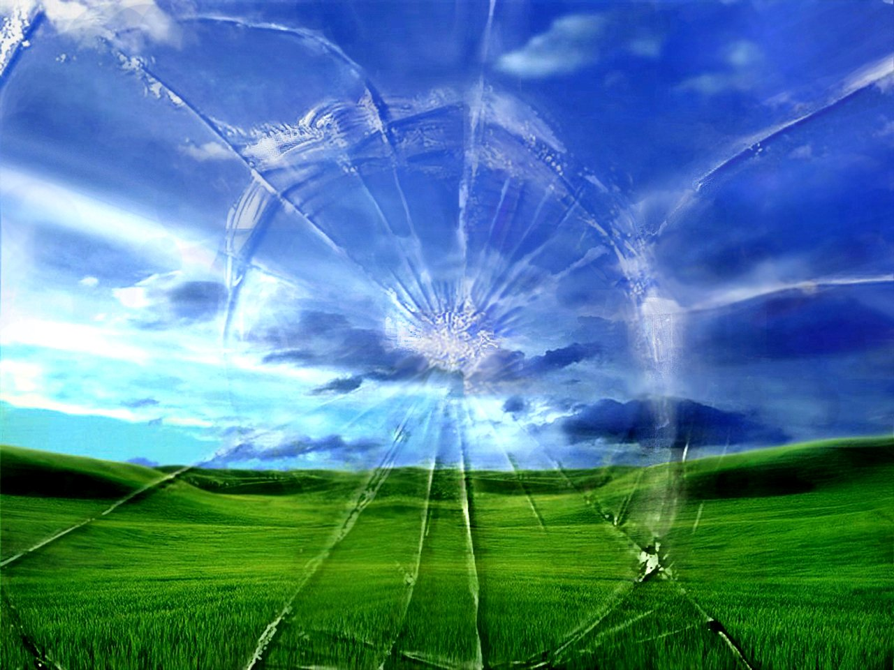 New Wallpaper cracked screen wallpaper 1280x960
