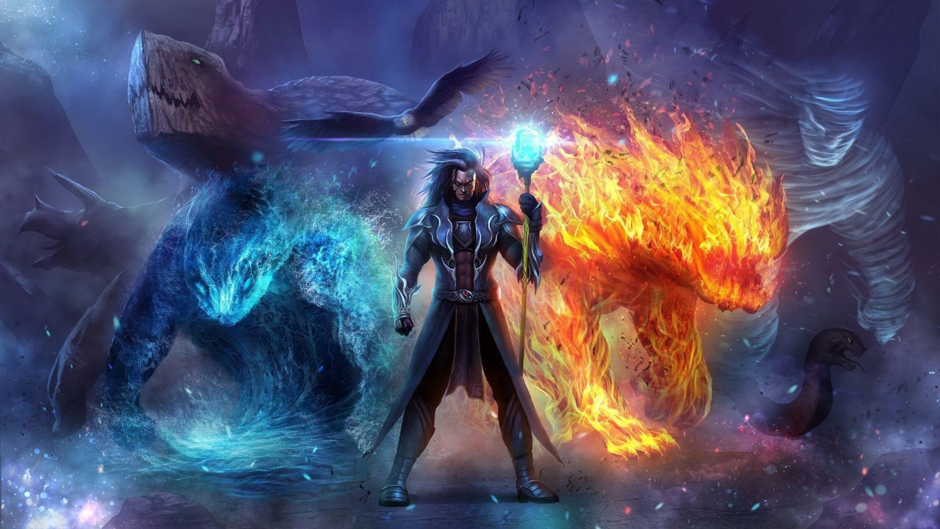 Wizard in ice and fire HD desktop wallpaper Widescreen 1366x768