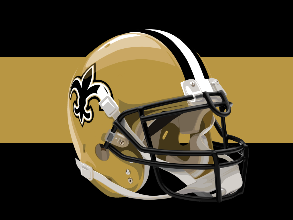 New Orleans Saints Helmet by timdallinger 1024x768