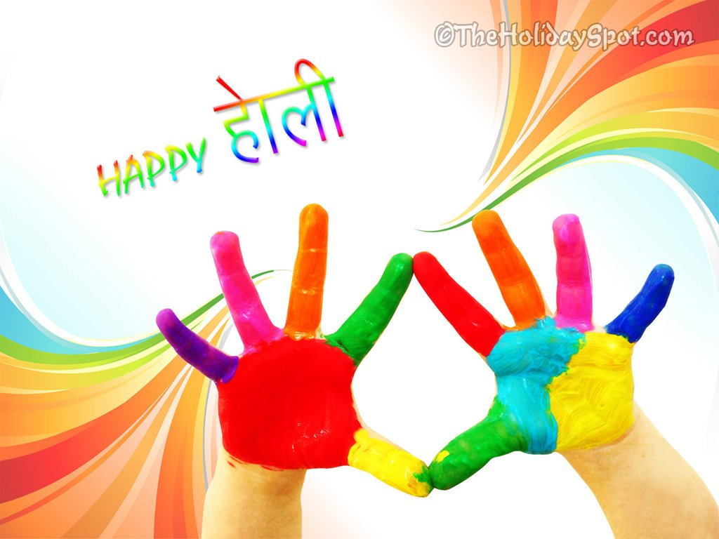 Wishing A Very Happy Holi Holi Wallpapers SMSs Greetings 1024x768