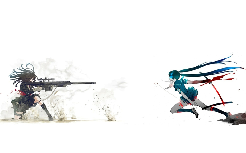blade sniper rifle anime girls 1920x1200 wallpaper Anime Anime Girl HD 800x500