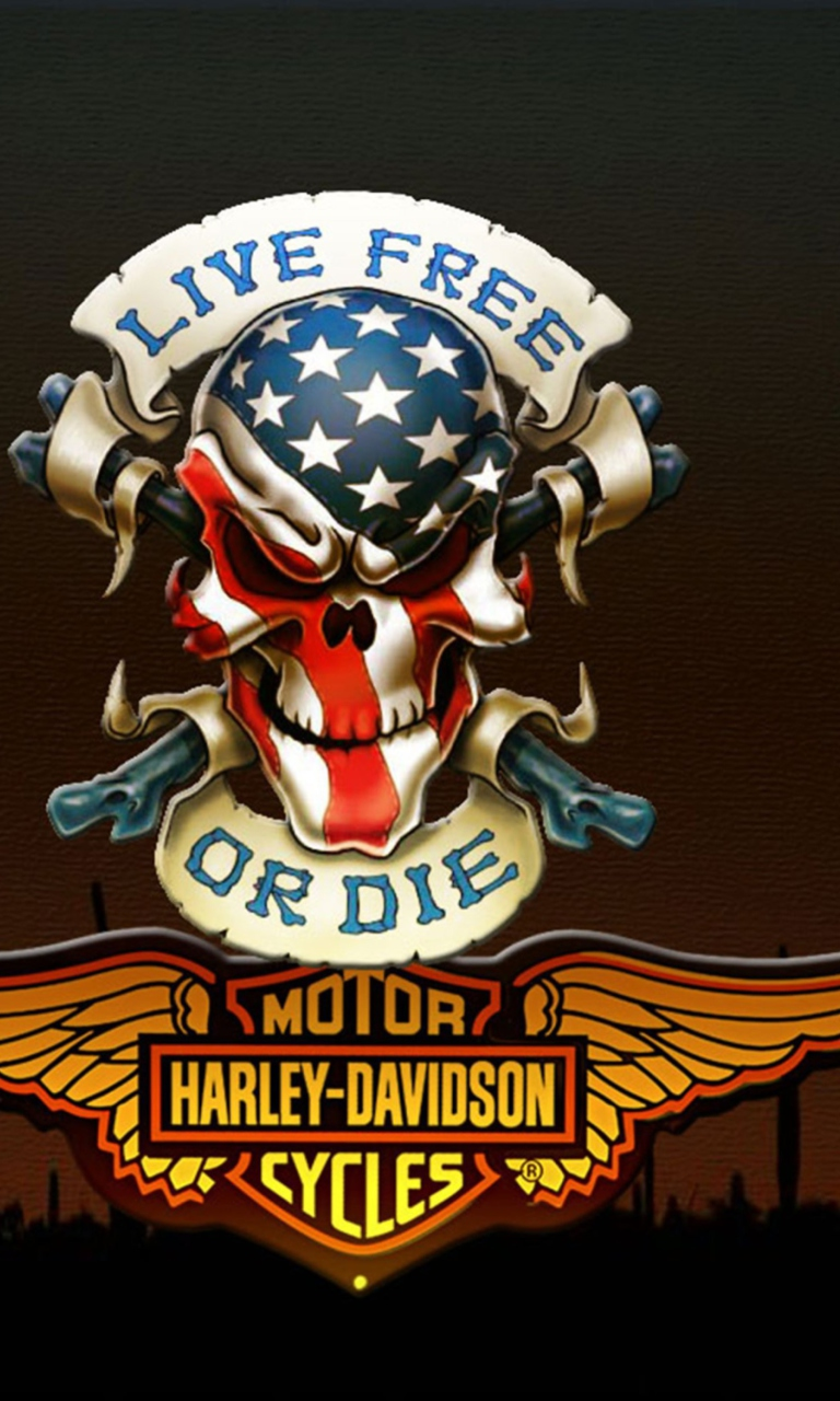 Harley davidson phone wallpaper wallpapersafari - Free harley davidson wallpaper for android ...